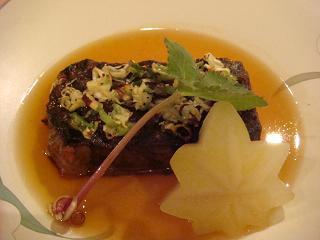 信州牛ほほ肉のネギ塩焼