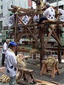 祇園祭 鉾 組み立て1