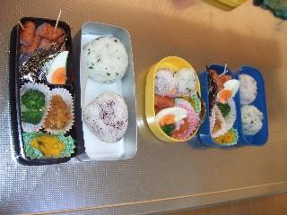 3つのお弁当♪