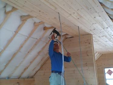 天井のパネル張り1