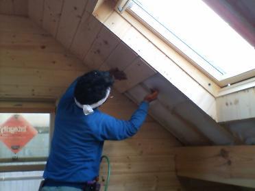 天井のパネル張り2