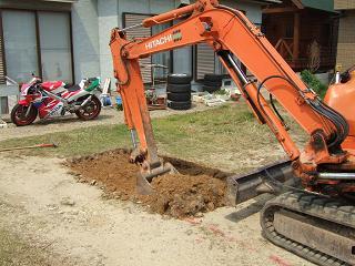 掘方工事開始