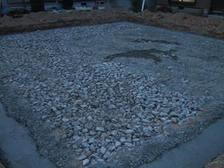 割栗石と砂利