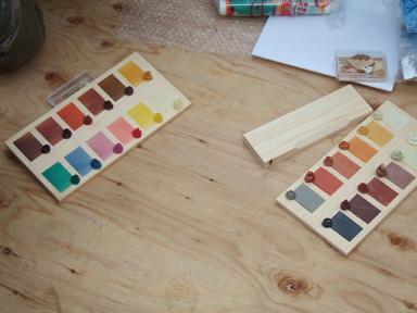色を混ぜたサンプル