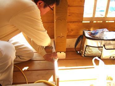 巾木工事の準備