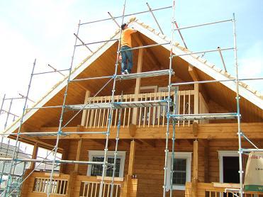 棟木の塗装