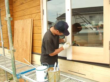 掃き出しドアの塗装2