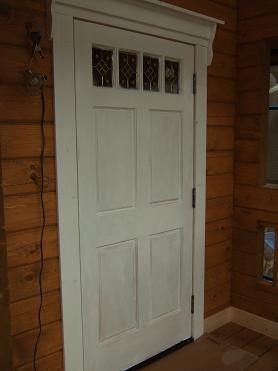 玄関ドア塗装完了(1回目)