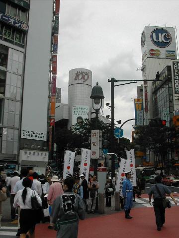 渋谷交差点の様子