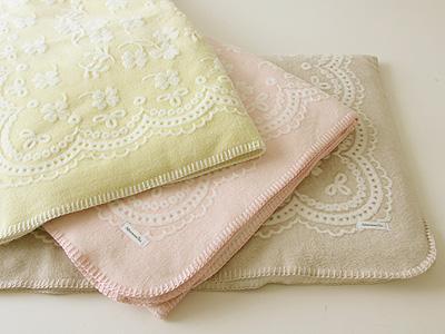 クローバー柄綿毛布