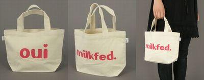 milkfed ouiトートバッグ