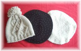 今年買ったニット帽&ベレー帽