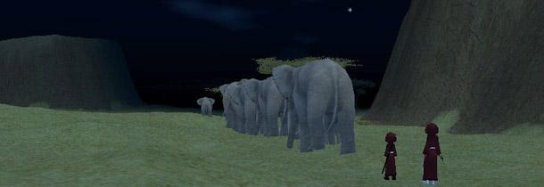 ゾウの行列