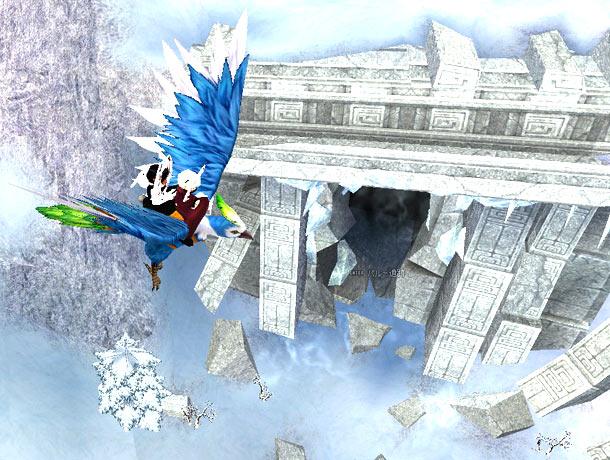 雪原を飛ぶ