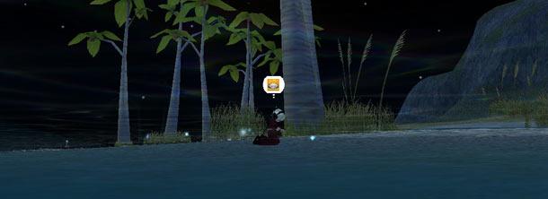 夜の海でひとりシャカシャカ。