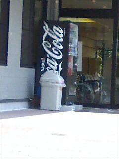 黒いコーラ自販機