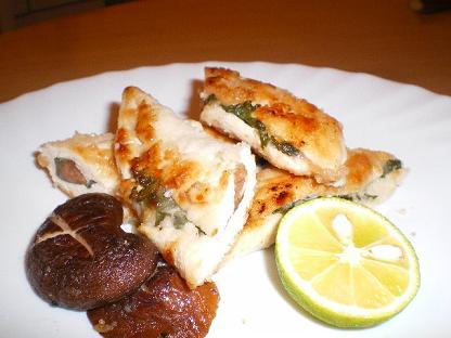 鶏ささみ梅肉はさみ焼き