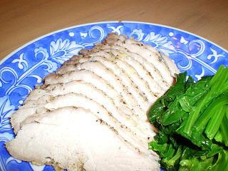豚モモ肉のハーブ塩釜