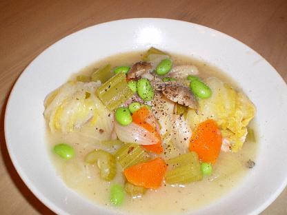 鮭のロール白菜
