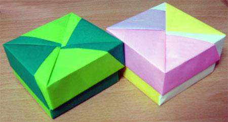 折り紙の箱、いっぱい作った ... : ますの折り方 : 折り方