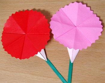 折り 折り紙:カーネーション 折り紙 簡単-mayubi.blog48.fc2.com
