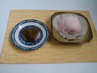 桜餅といちご大福