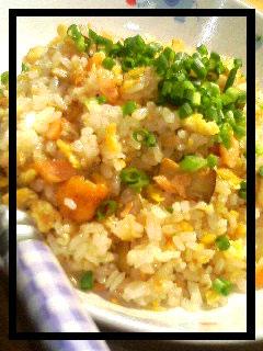 鮭ハラスとエリンギの炒飯