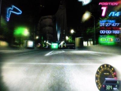 コース「レイブシティ・リバーフロント」・使用車種「アンドアジェネシス・ビソンテ」(リッジレーサー6)