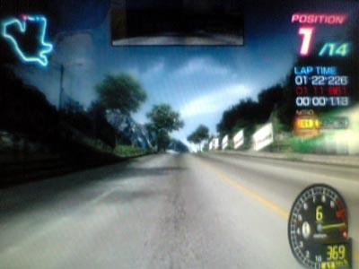 コース「ハイランド・クリフ」・使用車種「デロータ・メルトファイア」(リッジレーサー6)