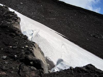 富士山の万年雪