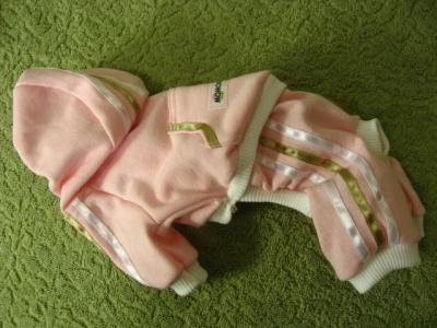 薄ピンクジャージ白×金茶ラインY