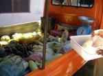 野菜満載の軽トラ