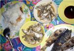漁村の魚料理
