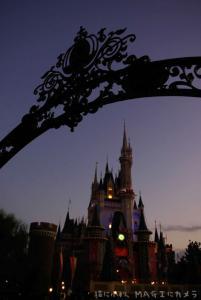 夕方のお城
