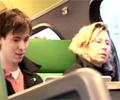 電車内で本物素人にセクハラ三昧