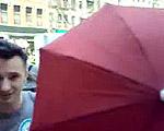 傘が小さくなる手品!