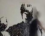手刀で描くブルース・リー