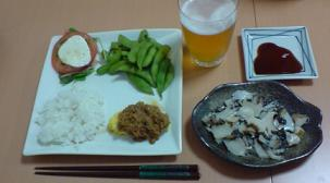 アワビ晩御飯