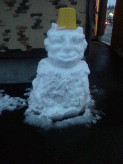 もっさん雪だるま