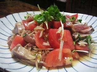 かつおトマトの中華サラダ