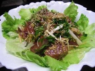 意外に旨い☆カツオの中華風サラダ