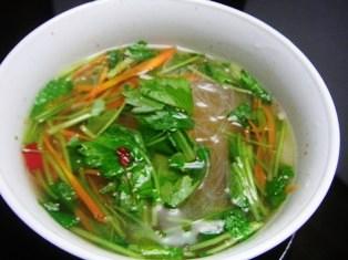 春雨のアジアンスープ
