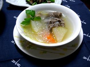 牛筋と冬瓜のスープ