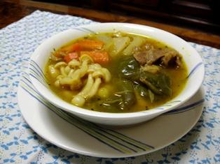 スジ肉でスープカレー