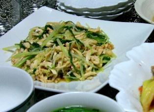 鶏と水菜の中華風サラダ