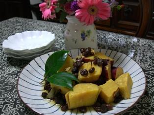 薩摩芋のレーズン煮