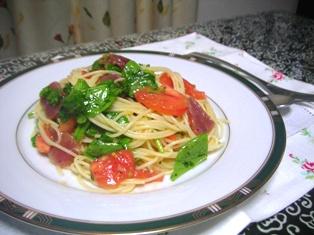 マグロのサラダ風パスタ