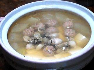 牡蠣と冬瓜鍋