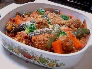 お野菜いっぱいミートボールのトマト煮