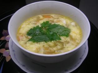 残り野菜で酸辣湯(スーラータン)